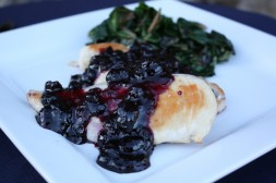 Pan Seared Chicken with Georgia Blueberry Relish